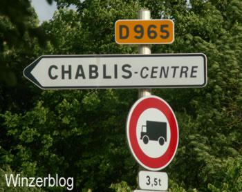 Chablis Schild