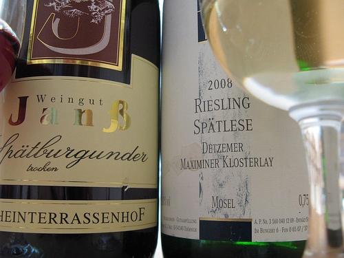 Weingut Thul Riesling Spätlese und Weingut Janß Spätburgunder trocken