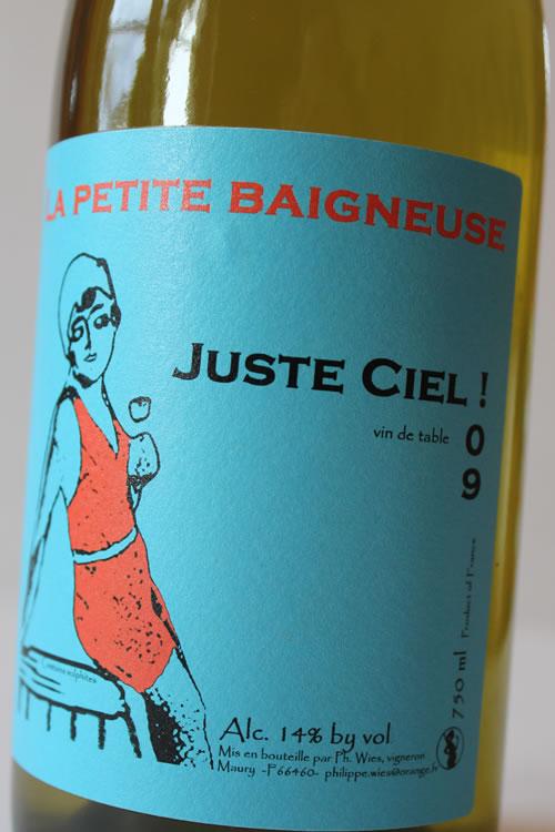Domaine la petite Baigneuse| vin naturel | 2009er Juste Ciel